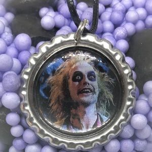 Beetlejuice Halloween Horror Necklace Pendant